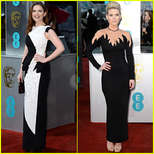 hayley-atwell-alice-eve-baftas-2013-red-carpet
