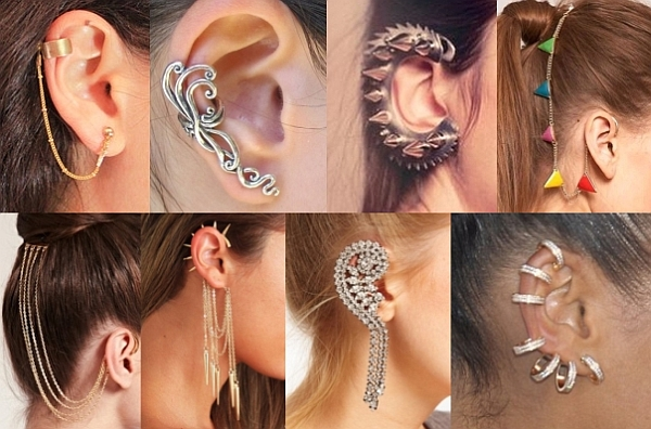 trending ear cuffs not earrings silhouette trend