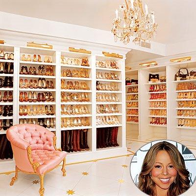 Maria Carey Shoes Closet
