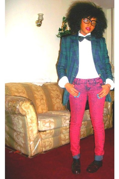 ruby-red-j-brand-jeans-plaid-thrifted-vintage-blazer-american-apparel-socks_400 - Blogger Jonniel76ers