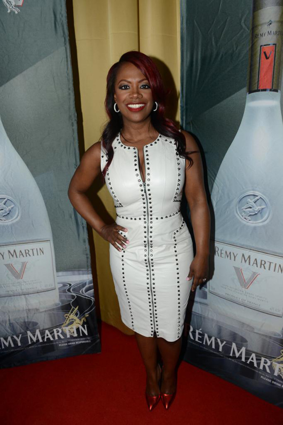 0-Kandi-Burrusss-Kandi-Factory-Viewing-Party-Bebe-White-Leather-Studded-Ari-Dress