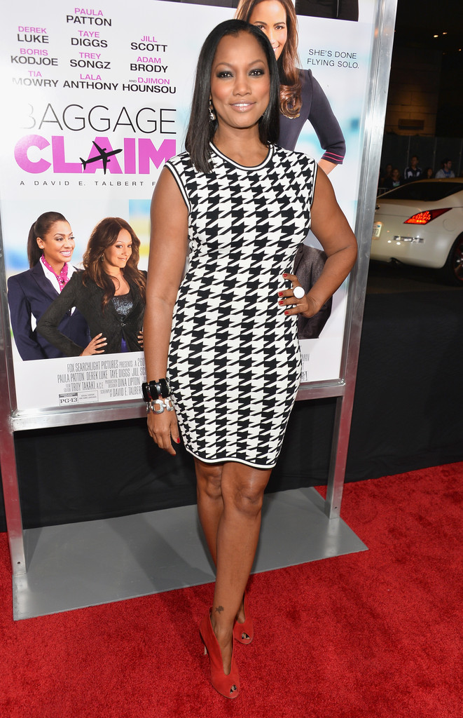 Garcelle-Beauvais-in-Torn-by-Ronny-Kobo-Erin-Oversized-Houndstooth-Dress