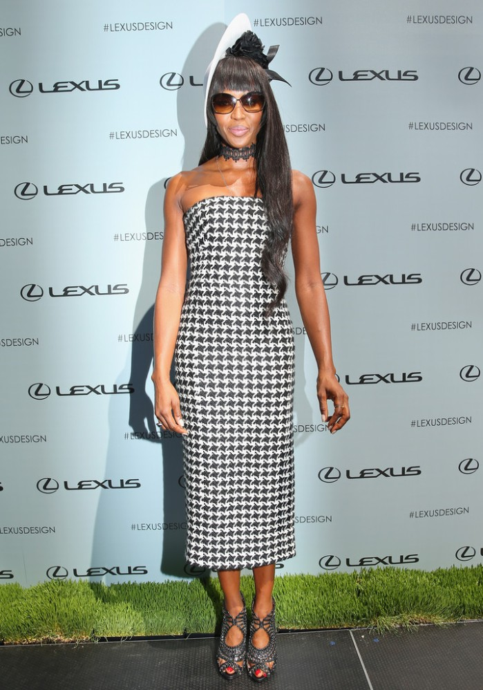 naomi-campbell-victoria-derby-day-christian-dior-fall-2013-strapless-houndstooth-dress-melbourne-australia-2