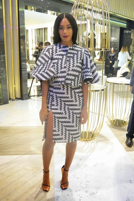 Solange-Dubai-Event-Christian-Siriano-zig-zag-black-and-white-dress-knowles
