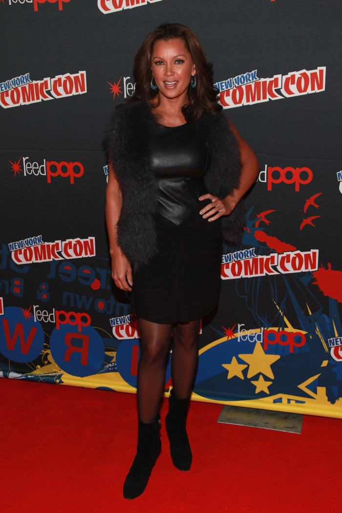 Vanessa Williams black leather dress Comic Con 201203