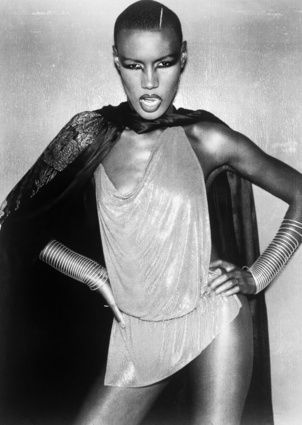 Grace Jones In Provocative Outfit