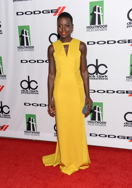 lupita-nyongo-jmendel-yellow-textured-viscose-sleeveless-column-gown-2013-hollywood-film-awards