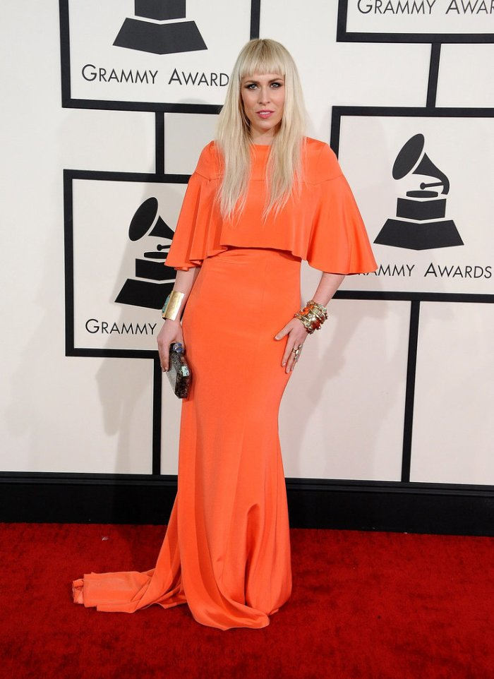 """""""Be bold, be bright"""" must have been Natasha Bedingfield's motto for the evening."""