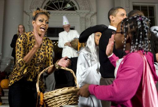 Obamas celebrate Halloween - Washington