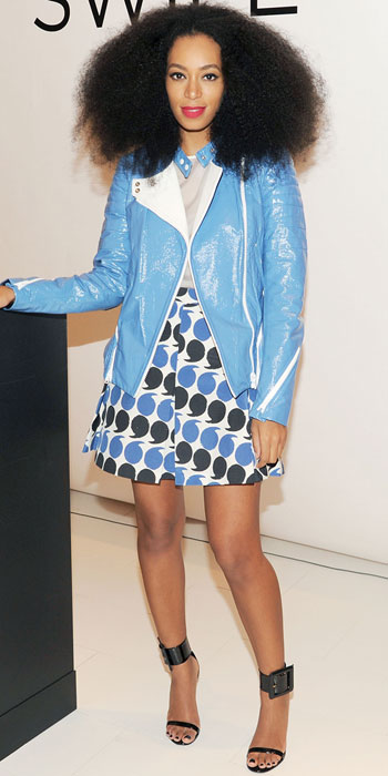 Solange-Knowles in sporty prints