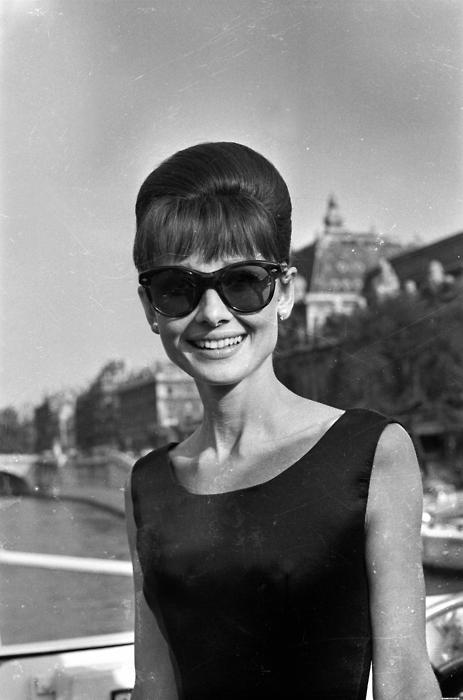 Audrey Hepburn, British actress. Paris,