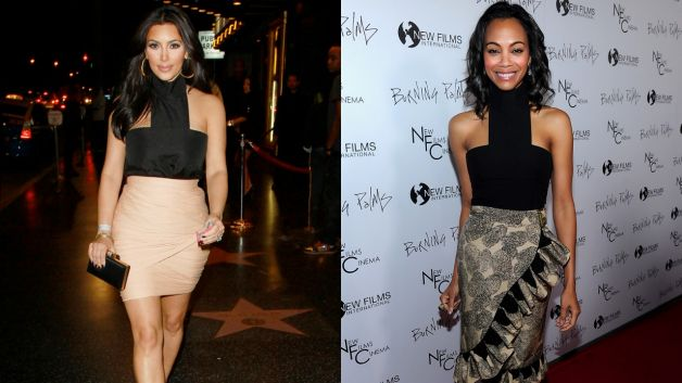 062311-news-fashion-kim-kardashian-zoe-saldana