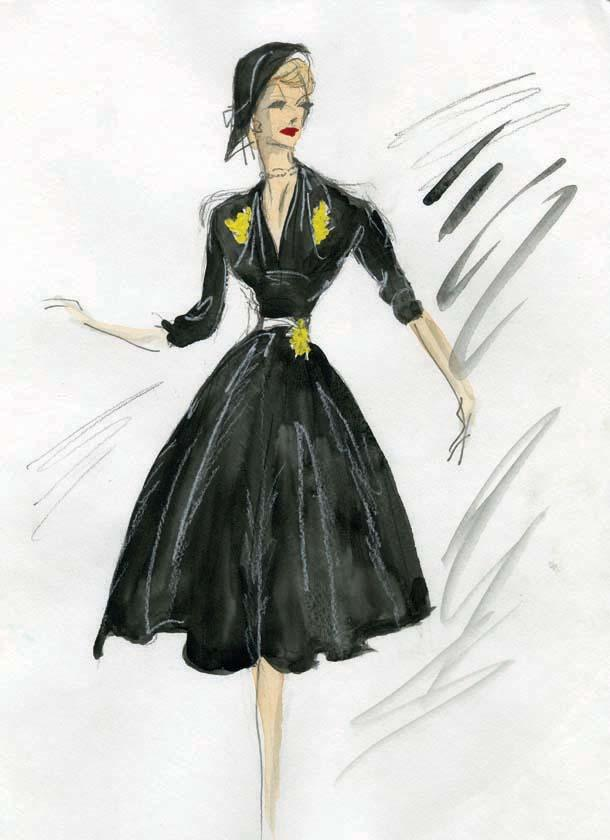 Sketch by Edith Head for Lucille Ball.