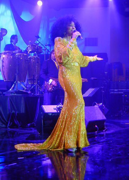US singer Diana Ross performs during the
