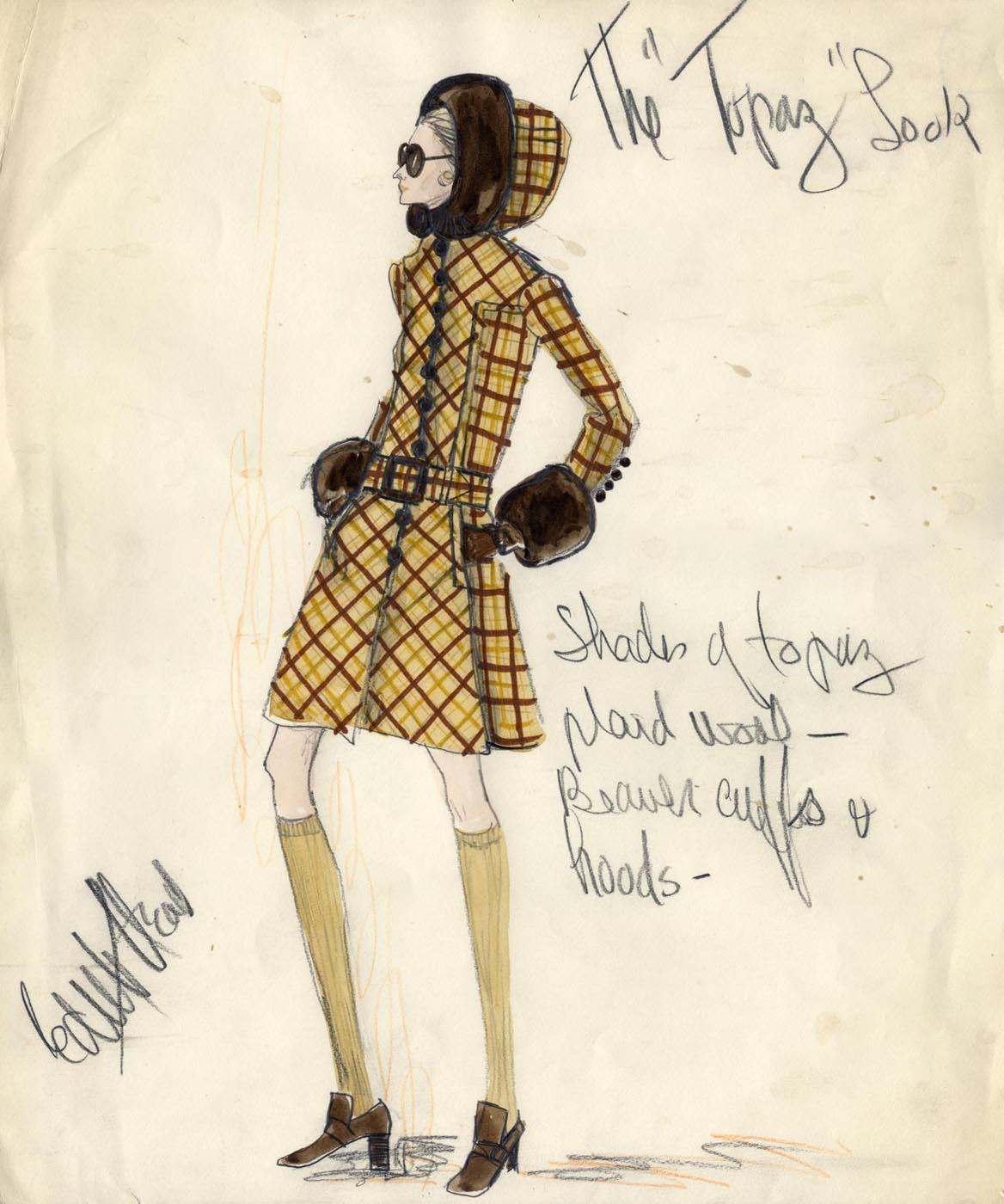 iconic designer edith head silhouette trend