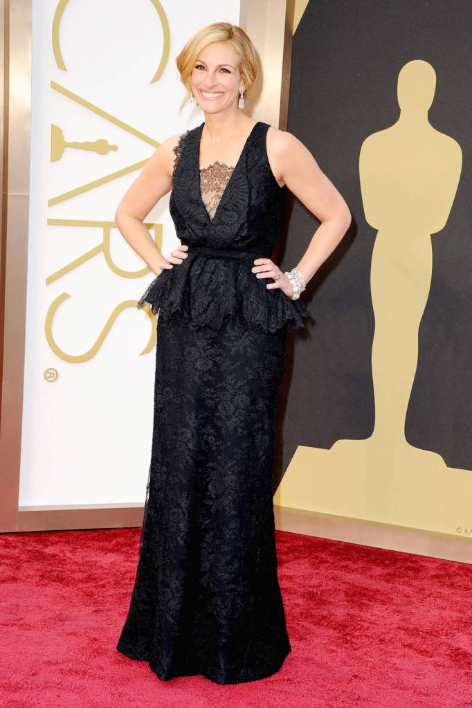 Julia Roberts in Givenchy black Couture Haute Peplum dress