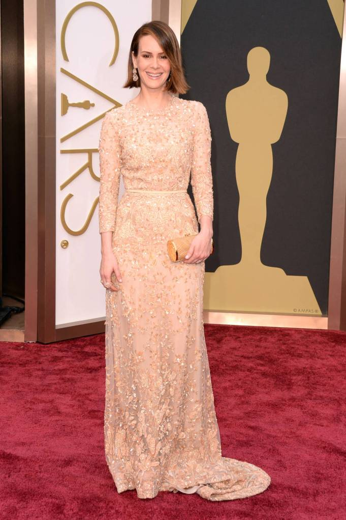 Sarah Paulson in embellished Elie Saab Couture