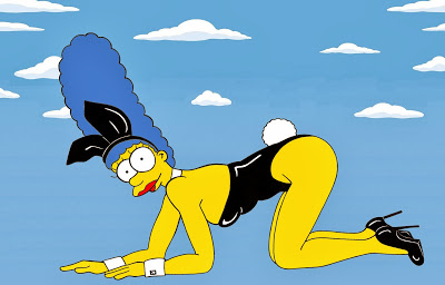 Marge Simpson as Kate Moss  Kate Moss Poses For Playboy's 60th  Anniversary Edition