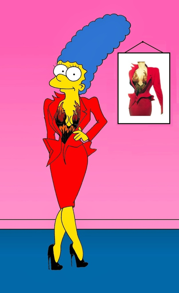 "Marge Simspon in ""Fire Suit"" Thierry Mugler"