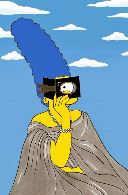 Marge Simpson as Virginia Oldoini,  Countess of Castiglione  Virginia Oldoini, Countess of Castiglione (1837 – 1899) was an Italian aristocratic who achieved notoriety as a mistress of Emperor Napoleon III of France. She was also a significant figure in the early history of photography.