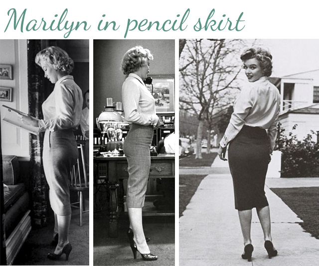 MarilynMonroe-pencil-skirt