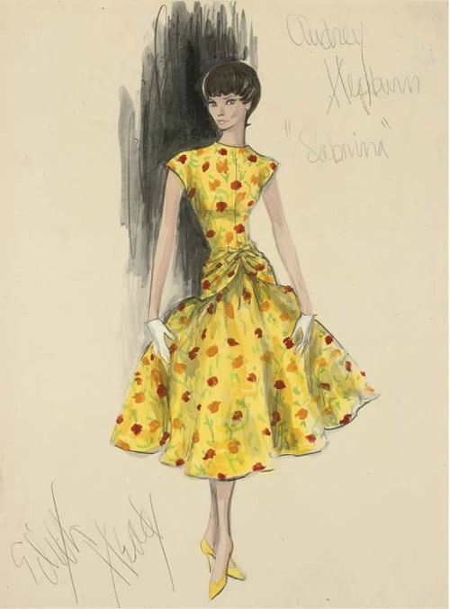 Costume design for Sabrina by Edith Head