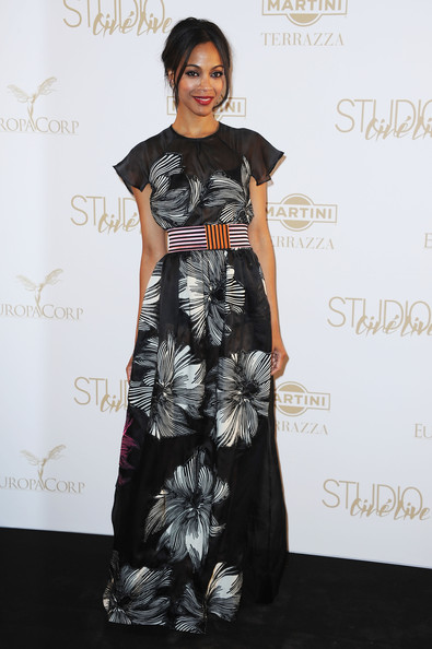 Zoe+Saldana+Dresses+Skirts+Evening+Dress+JPVBmXA_CBHl