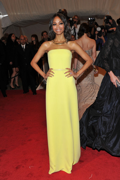 Zoe+Saldana+Dresses+Skirts+Evening+Dress+vAdWA0dWIeyl