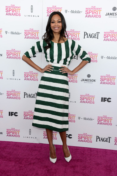 Zoe+Saldana+Dresses+Skirts+Print+Dress+l5YOyncPYcOl
