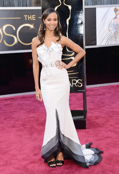 Zoe+Saldana+Dresses+Skirts+Strapless+Dress+0cP9VSe8T7zl