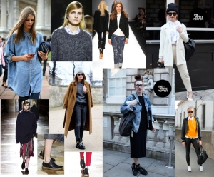 Street Style at London Fashion week / Masculine elements at Dries Van Noton & Vanessa Bruno courtesy The white pepper.
