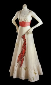 The famous 'Lobster Dress' by Salvador Dali and Elsa Schiaparelli