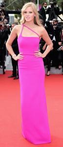 lara-stone-cannes-film-festival-2014-pink-dress-calvin-klein-red-carpet-fuchsia-fashion-trend