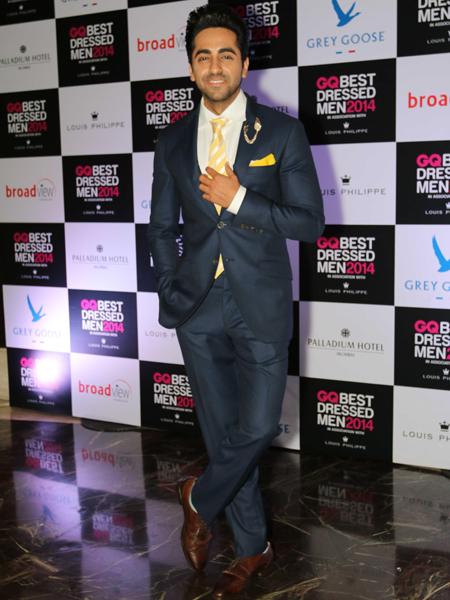 Actor Ayushmann Khurrana during GQ Best Dressed Men 2014 awards at Palladium Hotel in Mumbai. (Photo: IANS)