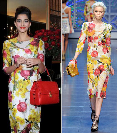 dolce-and-gabbana-spring-2012-floral-onion-print-dress-sonam-kapoor-indian-fashion