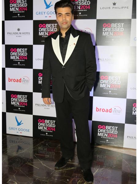 Filmmaker Karan Johar during GQ Best Dressed Men 2014 awards at Palladium Hotel in Mumbai. (Photo: IANS)
