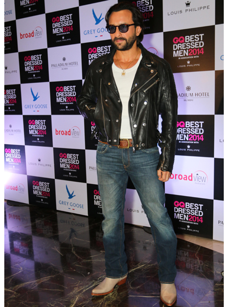 Actor Saif Ali Khan during GQ Best Dressed Men 2014 awards at Palladium Hotel in Mumbai. (Photo: IANS)