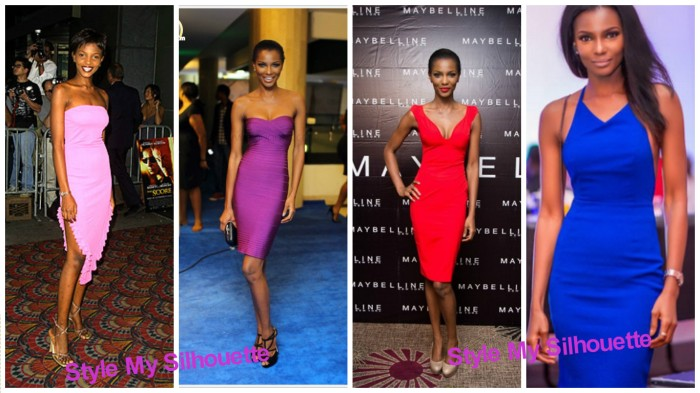 Agbani Darego in Bodycon dresses