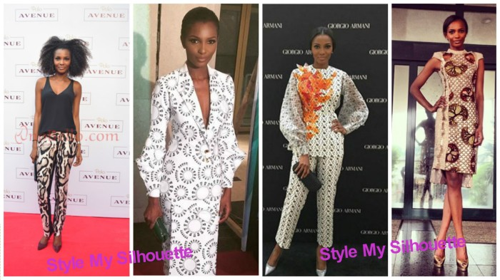 Agbani Darego in Prints