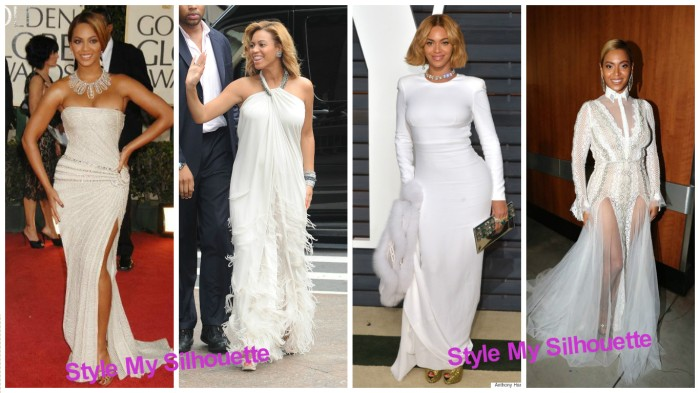 Beyonce in White Wedding dresses
