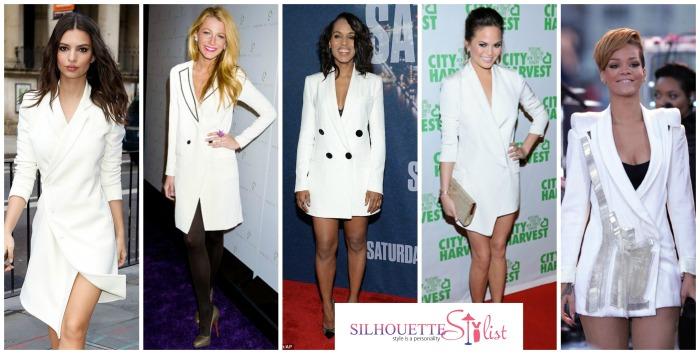 Blazer Dress - Emily Ratajkowski, Blake Lively, Kerry Washington, Chrisy Teigen, Rihanna