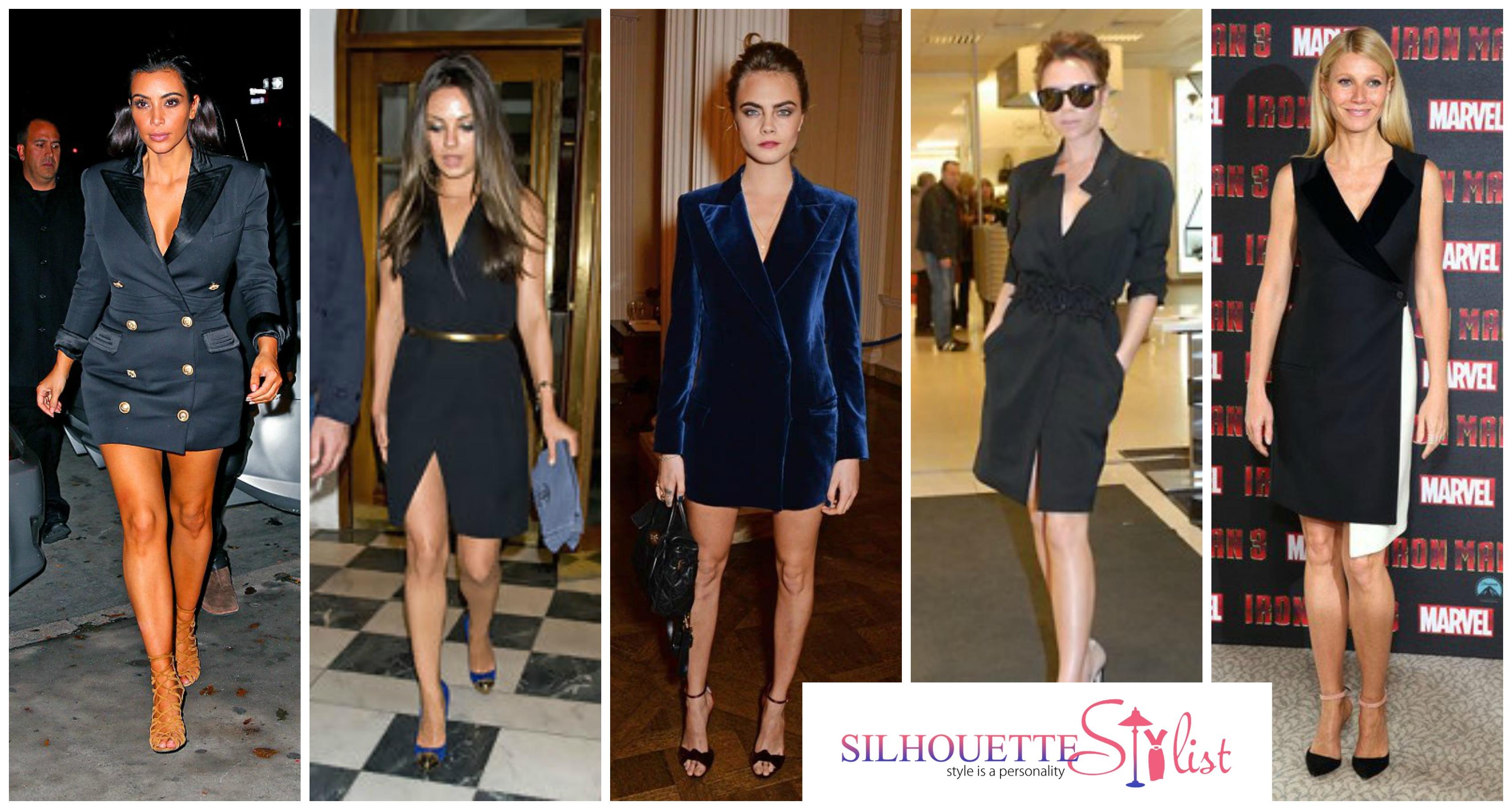 04da3b28f4f1 Blazer Dress - Kim Kardashian, Mila Kunis, Cara Delevigne, Victoria  Beckham, Gwyneth. Are you convinced on this style?