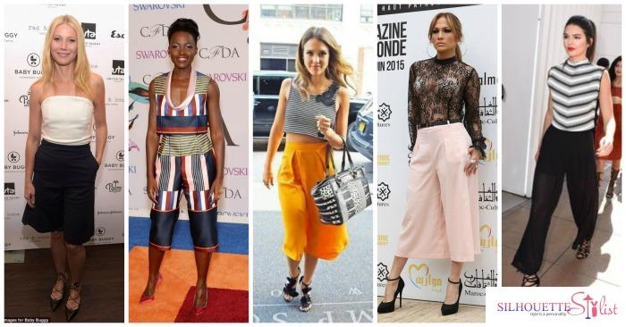 Casual culottes, Gwyneth Paltrow, Lupita Nyong'o, Jessica Alba, Jennifer Lopez, Kendall Jenner