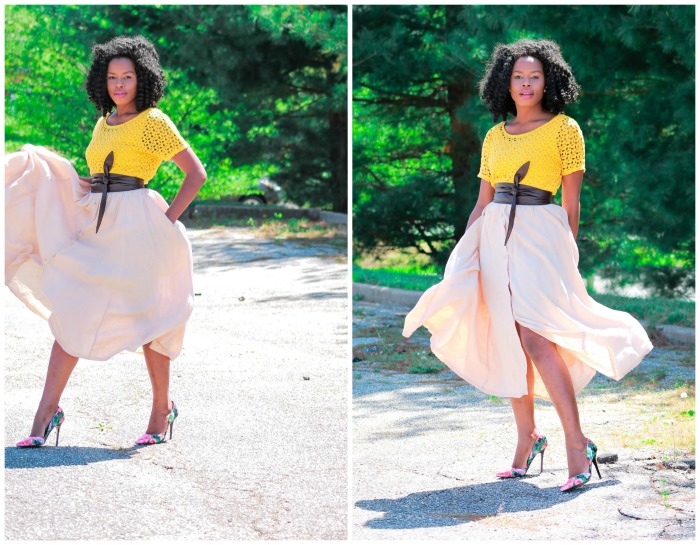 Playful Lace Top + Flirty Skirt