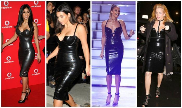 Bustier Latex Dress Nicole Scherzinger, Kim Kardashian, Alesha Dixon, Ellie Goulding
