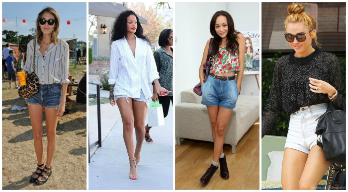 Denim Shorts Alexa Chung, Rihanna, Ashley Madekwe, Miley Cyrus