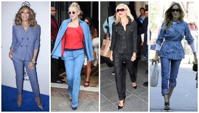Denim Suits Wendy Williams, Kate Hudson, Gwen Stefani, Sarah Jessica Parker