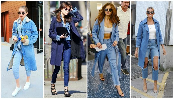 Denim Trench Coat Gigi Hadid, Alexa Chung, Selena Gomez, Alesha Dixon