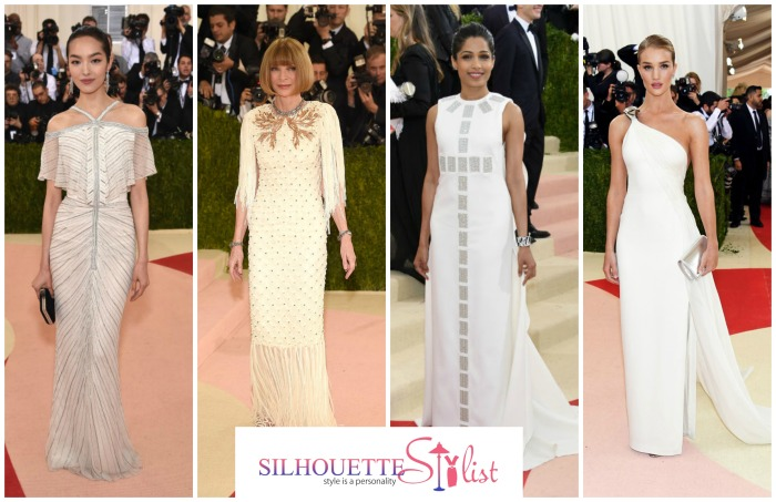 Fashion Meets Technology Met Gala 2016 Bridal Wear Inspirational Ideas Fei Fei Sun, Anna Wintour, Freida Pinto, Rosie Huntington Whiteley