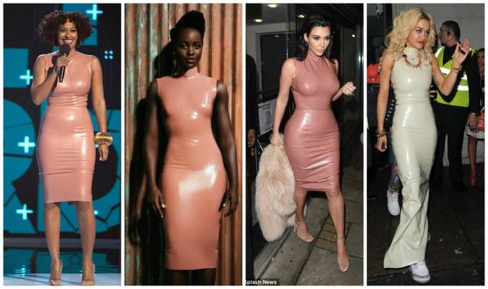 Latex High Neck Sleeveless Dress Tracee Ellis Ross, Lupita Nyong'o, Kim Kardashian, Rita Ora